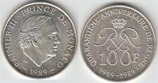 Gertbrolen MONACO 100 Francs Argent  40 Ans du Règne de  Rainier III 1989 N° 5