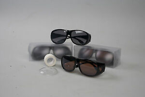 (100) Post Op Cataract Kits - Post Op glasses, shields, tape included AMBER LG