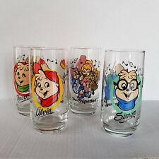 ALVIN & THE CHIPMUNKS Vintage Drinking Glasses - Complete Set - 1985 Hardee's