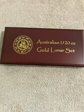 Gold Australian Lunars Set 1/20 oz. SERIES I HOLDS ALL 12 COINS 1/20 ounce each