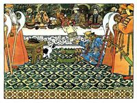 Ivan Bilibin The Feast 1905 100 Old Art Painting Picture Canvas Art Print