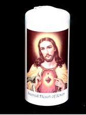 Cellini Candles Sacred Heart of Jesus  Personalised Religious Gift  #1
