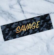 savage black camo ~ SLAP STICKER DIRFT DECAL VINYL CAMBER STANCE JDM TUNER JAPAN