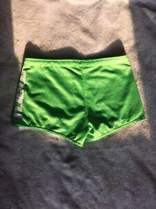 MARU Reversible Drag Swim Training Shorts Green/Blue Size Small