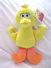 "Sesame Street Yellow 13"" All Fabric Big Bird Plush Doll Soft Stuffed Toy Figure"