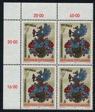 Austria 1207 TL Block MNH Art, Crest, Printing in Austria