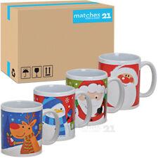 Tassen Becher Weihnachtstassen Keramik witzige Weihnachtsmotive 36 Stk. Karton