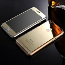 New Mirror Effect Gold Tempered Glass  Protector FOR iPhone 5,5s Front & Back