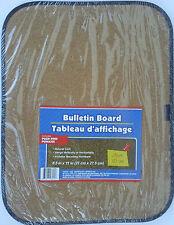 "CORK BULLETIN BOARD 8.5"" x 11"" Natural Cork w Push Pins Light Duty Mini Board"