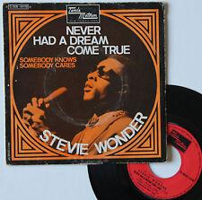 """Vinyle 45T Stevie Wonder  """"Never had a dream come true"""""""