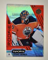 2020-21 UD Synergy Red Rookie #96 Stuart Skinner RC - Edmonton Oilers