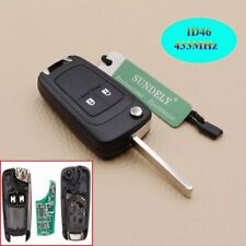2 Buttons Remote Car Flip Key 433MHz Vauxhall Opel Astra Corsa Insignia Zafira