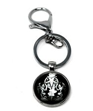 Black Metal Keychain - satanic - pagan - behemoth gorgoroth bathory