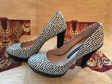 French Connection Black And White Heels Size 5
