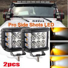 """2PCS 4""""INCH120W LED Light Bar Spot Flood Pods Lights Side Shooter Tractor 12V"""