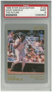 1988 Star Gold Edition DAVE WINFIELD #140 The Future ~ PSA 9 Mint