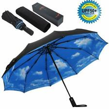 10 Ribs Umbrella,Large Travel Umbrella, Windproof Umbrella, Compact Auto Open Cl