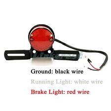 Cafe Racer Bobber Custom Motorcycle Bikes Round Stop & Tail Rear Brake Light LED