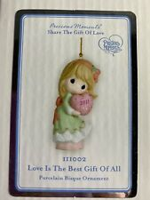 """Precious Moments """"Love is the Best Gift of All"""" 2011 Christmas Ornament"""