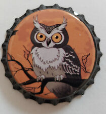 100 Orange Owl Home Brew Beer Bottle Crown Caps Halloween Decoration