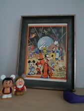 Walt Disney World EPCOT Goofy And Friends US Letter sized Print