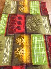 "Retro 1950's VINTAGE GEOMETRIC BARKCLOTH Curtains-Fabric (70"" D X 42"" W)"