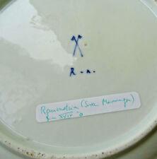 RAUENSTEIN assiette18 ? /19 eme decor fleuri bleu signé saxe,? germany,allemagne