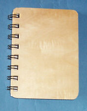 New Small Spiral Bound Notebook with Wooden Cover  paint  decorate craft