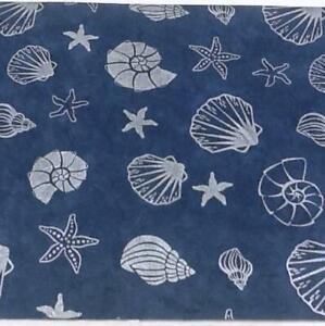 20 A4 sheets FINE MULBERRY TISSUE 25gsm DARK BLUE SILVER SEASHELL PRINT acidfree
