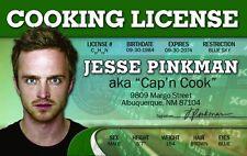 Jesse Pinkman BREAKING BAD  plastic collector card Drivers License sophia