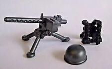 BrickArms M1919 Machine GUNNER PACK for WW2 Lego Minifigure -Gun, Vest, Helmet