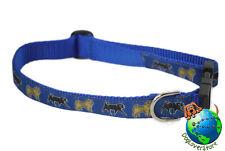 Pug Dog Breed Adjustable Nylon Collar Medium 11-19″ Blue