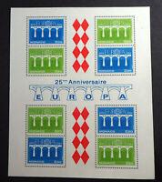 "MONACO BLOC FEUILLET YVERT N° 28 "" EUROPA 1984 "" NEUF xx LUXE COTE 28€ A 20% !!!"