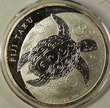2012 Fiji $2 Dollars BU Queen Elizabeth the Second 1 Ozt Silver Turtle Coin