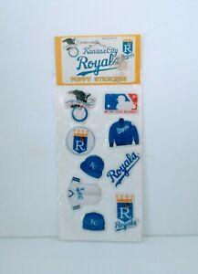 VTG Kansas City Royals KC 1983 Sports Puffy Stickers MLB Baseball Sheet New