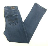 Levis 512 Perfectly Slimming Straight Stretch Blue Jeans 6P M 28x29 Inseam 28