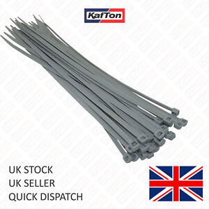 Silver / Grey Cable Ties. All Sizes Small, Medium & Large Size Zip Tie Wraps