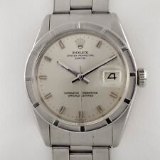 Rolex Men's Oyster Perpetual Date 1501 Stainless Steel Engine-Turned Bezel Watch