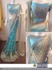 Bollywood Designer Party Wear New Color Half & Half Bridal Net Fabric Saree