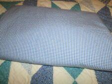 """Ralph Lauren  Powder Blue Gingham Check Flat Sheet 100% Cotton 96"""" X 105"""""""