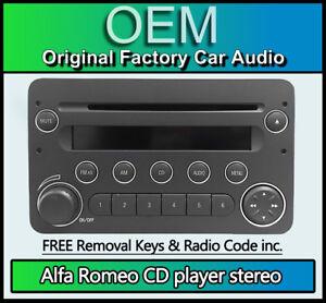 Alfa Romeo 159 Lettore CD Radio Stereo con Codice E Unità Principale Di Chiavi
