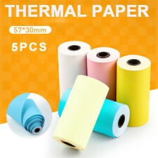 5 Rolls Portable Multicolor Thermal Printer Sticker Paper For Peripage Paperang