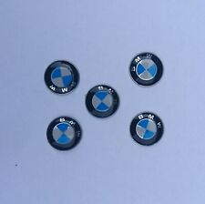 2x Replacement 14MM Car Key Sticker For BMW Fob Emblem Badge Radio Button