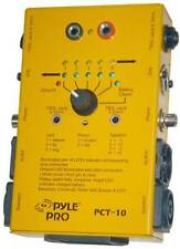 Pyle Pct10 8 Plug Pro Audio Cable Tester, Tests: Trs, Xlr, Rca, 4-pin Speakon