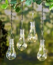 SET OF 2 LED HANGING SOLAR LIGHT PATIO YARD PORCH GARDEN OUTDOOR LIGHTING  DECOR