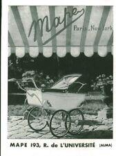 Publicité ancienne landau Mape 1947 issue magazine