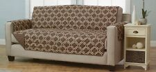 NEW Brown Quilted Designer Pet/Dog Sofa Reversible Furniture Protector Cover