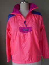 Beautiful Vintage NEON Coral & Pink Parka WINDBREAKER Jacket COLUMBIA Wmns SMALL