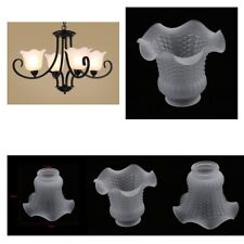 4x Floral Frosted Glass Ceiling Lamp Pendant Light Shades Wall Lighting