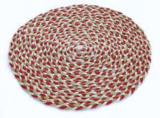 "19 "" Vintage Braided Hand-Weaved Reversible Jute Cotton Round Area Rug/Door Mat"